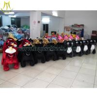 Hansel plush animals motorized walking stuffed animals Shopping Mall Animal Rides Manufactures