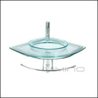 Buy cheap Corner Glass Bathroom Vanity China Factory Cheap Price Glass Wash Basink Sink Vessel from wholesalers