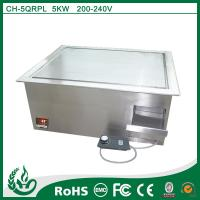 Stainless steel built in induction griddle cooker with 5kw/200-240v