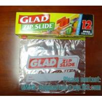 Buy cheap Glad Zipper Food Bags, Microwave Bags, Slider Bags, School Lunch Pouch, Slider grip bags from wholesalers