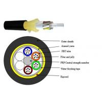 Buy cheap Single Jacket Dielectric Bulk Fiber Optic Cable ADSS High Strength Loose Tube from wholesalers