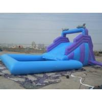 Buy cheap Fire Retardant 0.55mm PVC customized  inflatable bouncer rental slide for  party from wholesalers