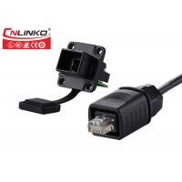 Buy cheap Waterproof Socket Panel Mount Shield Signal Connector 8 Pin For Network Cable from wholesalers
