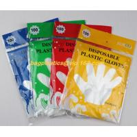 Buy cheap biodegradable compostable Disposable gardening pe glove heat resistant food grade gloves,PE or poly gloves with embossed from wholesalers