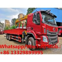 Buy cheap LIUQI brand 6*4 LHD 12tons yuchai 290hp 12T telescopic crane boom mounted on truck for sale, caego truck with crane from wholesalers