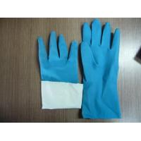 Buy cheap flocklined rubber household latex gloves from wholesalers