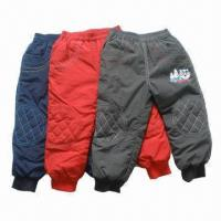 Buy cheap Children's Pants, Padded for Winter/Fashionable Boys Pants, for 1 to 8 Years Old, OEM Available from wholesalers