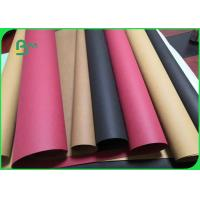 Buy cheap Red Black Color Waterproof Kraft Paper Fabric Roll For Storage Bag 150cm Width from wholesalers