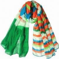 Buy cheap Polyster Printed Scarves, Customized Designs are Accepted, Measures 180 x 110cm from wholesalers