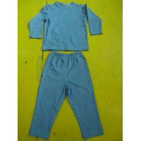 Wholesale Solid Colors Children'S Cotton Pajamas Simple Boys Two Piece Pajamas Lightweight from china suppliers
