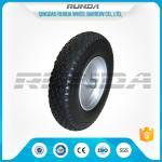 Buy cheap Durable Heavy Duty Rubber Wheels 4.00-8 , Industrial Trolley Wheels Diamond Patter from wholesalers