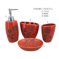 Buy cheap Ceramic Red Bathroom Set of 4 (XY108-0063) from wholesalers