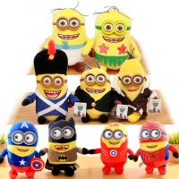 New Minions With 3D eye Cartoon Plush Toys 22cm / 30 cm / 45cm Manufactures