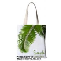 Wholesale Printing Palm Leaf Canvas Bag Cotton Canvas Handle Tote Bag Cotton Bag Customized Cheap Eco Silk Screen Printing Logo Re from china suppliers