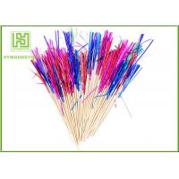 Buy cheap Thick Bamboo Appetizer Picks , 15cm Length Bridal Shower Toothpicks With Frills from wholesalers