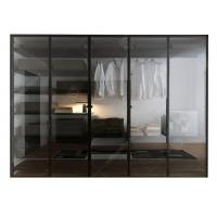 Buy cheap Italian Style Glass Door Small Wardrobe With Drawers , Modern Freestanding Wardrobe Closet from wholesalers