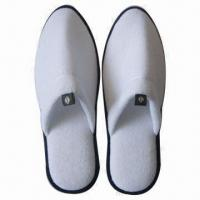 Buy cheap Disposable Hotel Slippers, Made of Terry Towel and EVA, Packed with OPP Bag from wholesalers