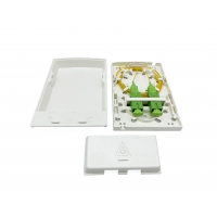 Buy cheap Fiber Terminal Access Box For FTTH Wall Outlet , Wall Mount 2 Port SC Adapters Flame Retardant from wholesalers