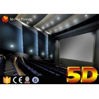 Buy cheap 7.1 Channel Audio System and Curve Screen 4-D Movie Theater with 3 DOF Electric Chairs from wholesalers