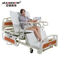 China Healthcare Back Lift And Leg Rest , Turn Over Electric Home Beds With Toilet on sale