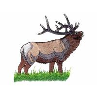 Wholesale Embroidery Digitizing Services deer on the green grass land WDH9805 from china suppliers