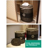 Buy cheap handmade large cheap wholesale wicker baskets with lid fabric lining from wholesalers