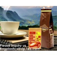 Buy cheap Custom Printed Doypack Resealable Ziplock Standing Up Pouches Aluminum Foil Coffee Packaging Bags With Zipper from wholesalers