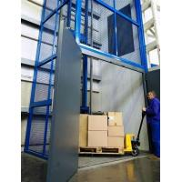Buy cheap Vertical guide rail elevators hydraulic warehouse cargo lift price from wholesalers