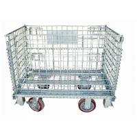 Buy cheap Foldable Forklift Metal Pallet Cage Steel Q235 100-2000 Loading Anti Corrosion from wholesalers