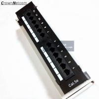 Buy cheap RJ45 Ethernet 12Port Patch Panel Cat5e UTP Wall Mount 12Port Patch panel Category 5e Pach Panels from wholesalers