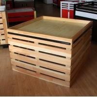 Buy cheap Supermarket Fruit And Vegetable Wooden Retail Display Shelves / Wooden Display Units from wholesalers