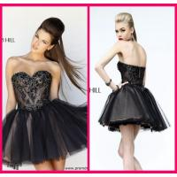 Buy cheap Black Short Long Homecoming Dresses Sweetheart , Mini Short Beading Cocktail Dresses from wholesalers