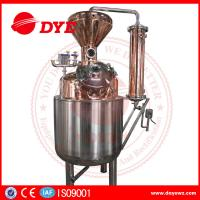 Buy cheap 400L Steam Copper Gin Column Whisky Distillation Equipment With Water Tank from wholesalers