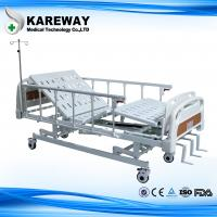 Buy cheap Three Cranks Mechanical Hospital Bed With ABS Dining Table For Nursing Home from wholesalers