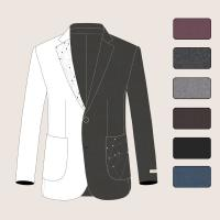 Wholesale Handmade Men Woolen Coats with Embroidery Notch Lapel and Patch Pockets 1 Button from china suppliers
