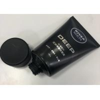 Buy cheap Men Facial Cleanser Plastic Cosmetic Packaging Tube Combined With Silkscreen Printing from wholesalers