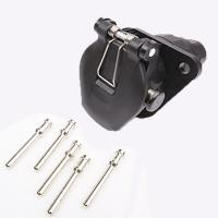 Buy cheap 5 Pin Trailer Electrical Socket Crimp Type Trailer Power Plug Waterproof from wholesalers
