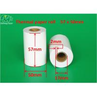 Buy cheap 57x50mm Printed Thermal Paper Rolls , Thermal Printer Paper Deep Thermal Image from wholesalers
