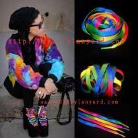 Buy cheap 120cm Rainbow Multi-Color Flat Sports Shoe Laces String Straps For Unisex Rainbow Shoelace from wholesalers