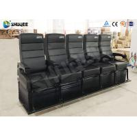 Wholesale Electric Dynamic System 4D Cinema Equipment Red / Black Cinema Chair For Theater from china suppliers