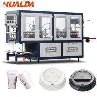 Buy cheap Automatic Coffee Cup Plastic Lid Forming Machine HIPS / PVC Sheet Material product