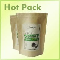 Buy cheap Coconut Sugar Kraft Brown Paper Bags With Zipper Foil Lined , Resealable Food Pouches from wholesalers