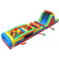 Buy cheap Plato PVC Material Inflatable Obstacle Courses Beautiful And Long Durability from wholesalers
