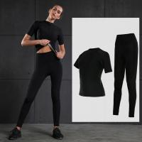 Buy cheap Durable Black Sweating Suit For Ladies Running Clothes M , L , XL Size from wholesalers