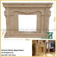 Buy cheap Carved Stone Natural Fireplace Mantel for Indoor Decoration from wholesalers