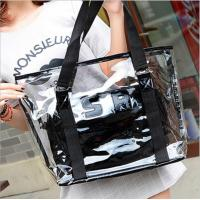 Buy cheap Women Tote Handbag Semi clear-PVC Beach Bag Shoulder Bag Stripe Fasion bag Design From China Factory Supplier,good price from wholesalers