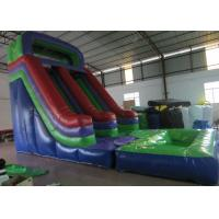 Buy cheap Dark Green Large Commercial Inflatable Water Slides / Bounce House With Slide from wholesalers