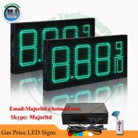 China 8 Electronic led price sign with wireless controller for gas station on sale