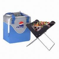 China Mini Portable BBQ Grill with 0.5mm Fire Pan Thickness and 43cm Working Table Height on sale