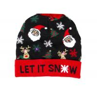 Buy cheap Winter Acrylic And Wool Warm Custom DesignChristmasPromotion Beanie Hats from wholesalers
